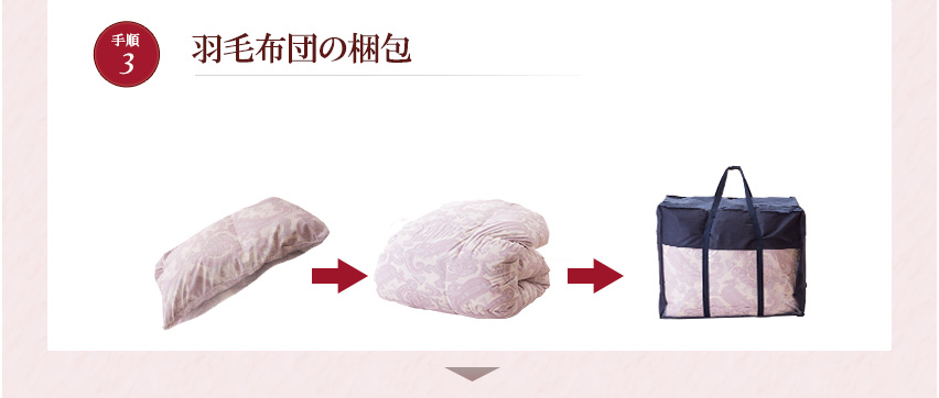 羽毛布団の梱包