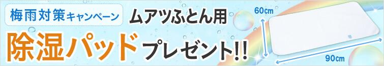 梅雨対策キャンペーン除湿パッドプレゼント!