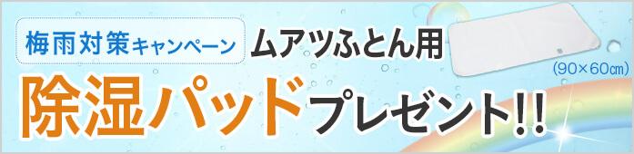 ムアツふとん用除湿パッドプレゼント!!